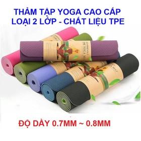 Thảm Tập Yoga Thảm Tập Yoga Thảm Yoga TPE 2 Lớp - thảm tập yoga