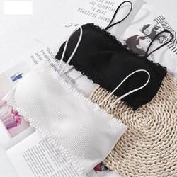 Áo lót nữ, áo bra tâm ngang cotton có dây free size từ 40kg-58kg - LN 8832- Lê Ngọc Fashion