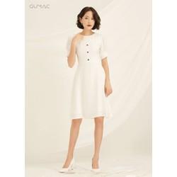 Đầm rã đô xếp ly GUMAC DA841_TRANG