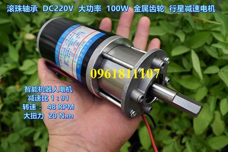 Motor giảm tốc 220v planetary 48 vòng - Motor giảm tốc 220V dc 9
