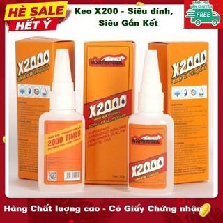 Keo dán X2000 - Keo dán siêu dính X2000 dán gỗ, thủy tinh, kim loại, sắt, gốm sứ, nhựa, giày dép, cao su - Keo dán siêu dính X2000 thumbnail