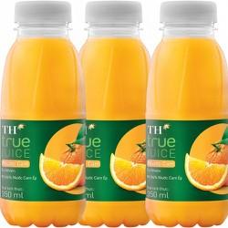Combo 6 Chai Nước Trái Cây TH True Juice Cam Tự Nhiên 350ml