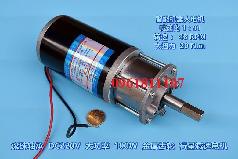 Motor giảm tốc 220v planetary 48 vòng - Motor giảm tốc 220V dc 8