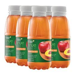 Combo 6 Chai Nước Trái Cây TH True Juice Táo Tự Nhiên 350ml