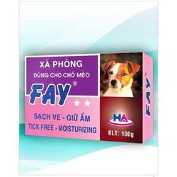 Xà Bông ASA FAY 2 SAO 100g Sạch Ve cho thú cưng