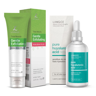 Bộ Tẩy Tế Bào Chết Da Mặt 100ml và Serum Collagen+ Hyaluronic Acid Dưỡng Da 100ml LANGCE - LA565-428 thumbnail