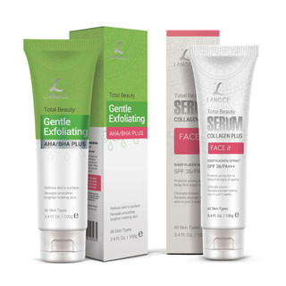 Bộ Tẩy Tế Bào Chết Da Mặt 100ml và Serum Collagen+ Face It Dưỡng Trắng 100ml LANGCE - LA565-497 1