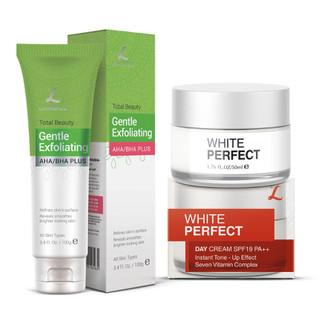 Bộ Tẩy Tế Bào Chết Da Mặt 100ml và Collagen White Perfect Giữ Ẩm Chống Nắng Spf19 50ml LANGCE - LA565-640 thumbnail