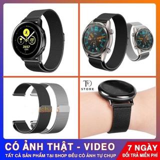 (HÀNG CAO CẤP) Dây đồng hồ kim loại, dây Milan, dây đồng hồ thép lưới cho Samsung Watch Active , Samsung Gear S3 , Samsung Gear S2 Classic , Ticwacth 2 , ticwatch Pro, Garmin , Huawei GT , - TYDML thumbnail