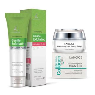 Bộ Tẩy Tế Bào Chết Da Mặt 100ml và Collagen Dưỡng Trắng Beauty Sleep Cấp Khóa Ẩm 30ml LANGCE - LA565-657 1