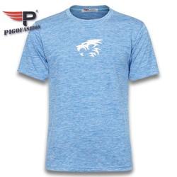 Áo thun nam cổ tròn tập gym thể thao big size GM06.4 in logo sư tử PiGoFashion chọn nhiều màu