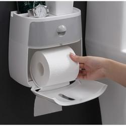 Hộp dựng giấy vệ sinh cao cấp 2 tầng