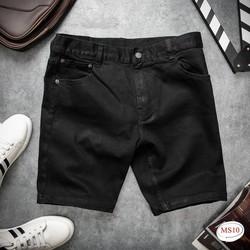Quần short Jeans Nam Màu Đen Vải cotton 100% co giãn mặc thỏa mái