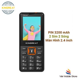 Điện thoại Kingreat T20 Pro,Pin khủng 3200mah ,Loa to ,Màn 2.4 - Hàng chính hãng - Kingreat T20 Pro thumbnail