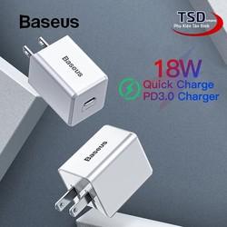 Củ Sạc Nhanh Baseus Quick Charge PD 3.0 18W TC-075PD Chính Hãng