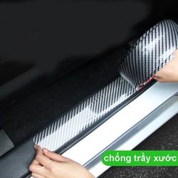 2 mét Miếng dán cao su carbon chống trầy chống va đập cho cửa xe hơi,cốp sau ôtô Bản 5cm