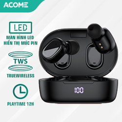 [ HÀNG MỚI VỀ ] Tai nghe Airdot T1 ACOME không dây Bluetooth 5.0 2300mAh