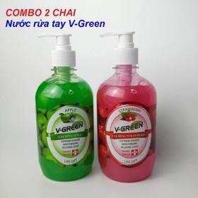 COMBO 2 chai nước rửa tay Vgreen cao cấp, mỗi chai 500ml - FD5