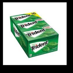 Hộp kẹo cao su Trident vị bạc hà nhập khẩu Mỹ 12 thanh