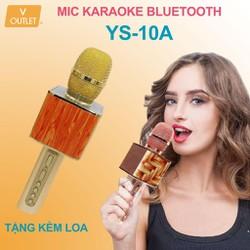 Mic Hát Karaoke Bluetooth Không Dây YS-10A - Kèm Loa- Âm vang - Ấm - Tặng 1 dây sạc nhanh 25K - mic hát karaoke cầm tay mini - micro hát trên xe hơi - mic hát karaoke hay nhất hiện nay.