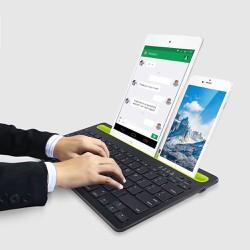 Bàn phím bluetooth cao cấp kết nối và sử dụng với 2 thiết bị cùng 1 lúc điện thoại, máy tính bảng
