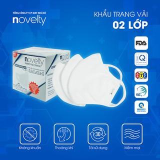 Bộ 2 Hộp khẩu trang vải 2 lớp (25 cái hộp) kháng khuẩn, chống bụi NOVELTY - hàng chính hãng - Thương hiệu thuộc Tổng công ty May Nhà Bè - COMBO02HOPKT thumbnail