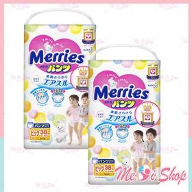 Combo 2 Gói Tã Merries Quần size XL 38 miếng - XL38