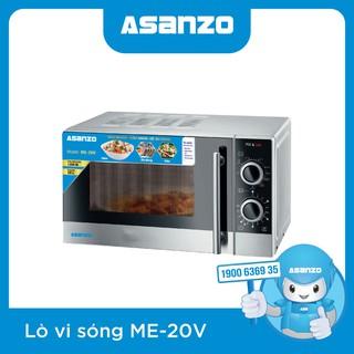 Lò vi sóng Asanzo ME-20V (Công suất 1200W, dung tích 20 lít, Điều khiển cơ, chức năng nấu tự động, 6 mức công suất) - Bảo hành chính hãng 12 tháng - ME-20V thumbnail