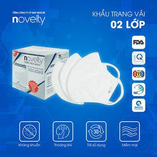 Bộ 10 Khẩu trang vải 2 lớp kháng khuẩn, chống bụi NOVELTY - hàng chính hãng - Thương hiệu thuộc Tổng công ty May Nhà Bè - COMBO10KT thumbnail