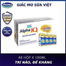 Thùng 48 hộp sữa bột pha sẵn Vinamilk Dielac Alpha Gold 180ml - sữa bột pha sẵn dilac