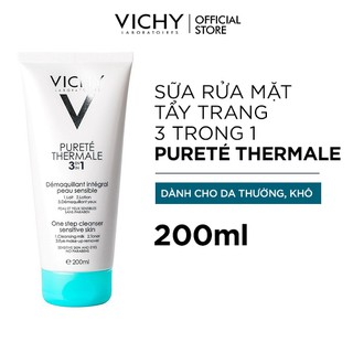 Sữa Rửa Mặt Tẩy Trang 3 Tác dụng Vichy Purete Thermal One Step Cleanser 200ml - 3337871319144 2