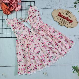 Váy hoa nhí cho bé gái đầm hoa nhí
