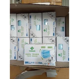 khẩu trang y tế kháng khuẩn 4 lớp hàng xuất khẩu đầy đủ giấy tờ hộp 50 chiếc - vg84nka thumbnail