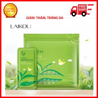 [3 Gói] Mặt nạ ngủ trà xanh LAIKOU dưỡng ẩm và chống lão hóa mặt nạ dưỡng da mặt nạ ngủ matcha mặt nạ nội địa Trung - TJU thumbnail