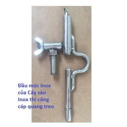 Phần Móc Treo Inox Của Cây Sào Inox Cách Điện Thi Công Cáp Quang Treo