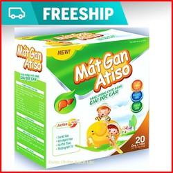 Siro Mát gan Atiso  - Giúp giải độc gan,  thanh nhiệt mát gan cho bé, giảm mẩn ngứa, rôm sảy, dị ứng- Hộp 20 ống