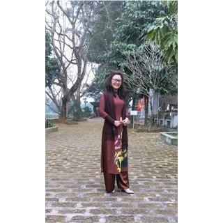 Bộ áo dài đi lễ chùa (Cả bộ) - 10.8ADLC thumbnail