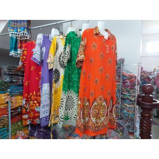 Váy Nữ Trung Niên Có Tay Vải Lanh Sang Trọng - váy trung niên 2