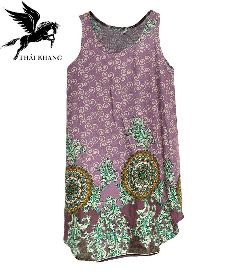 Váy Nữ Trung Niên Loại Sát Nách Vải Lanh Mặc Mát - VÁY SÁT NÁCH 7