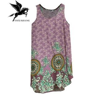 Váy Nữ Trung Niên Loại Sát Nách Vải Lanh Mặc Mát - VÁY SÁT NÁCH 3