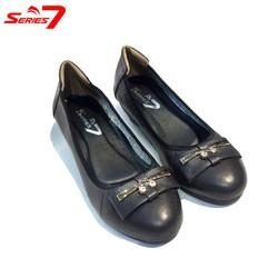 Giày búp bê nữ da bò mềm đế xuồng 5p siêu êm chân gắn khóa ECool – dành cho nữ trung niên