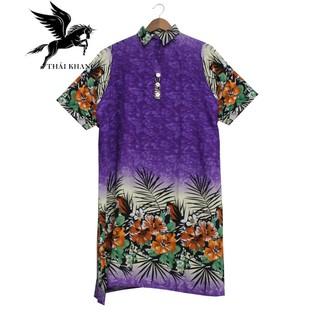 Váy Nữ Trung Niên Có Tay Vải Lanh Sang Trọng - váy trung niên 3