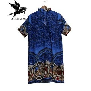 Váy Nữ Trung Niên Có Tay Vải Lanh Sang Trọng - váy trung niên 6