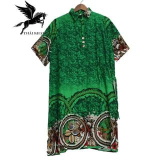 Váy Nữ Trung Niên Có Tay Vải Lanh Sang Trọng - váy trung niên 8
