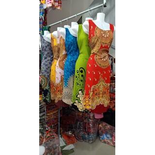 Váy Nữ Trung Niên Loại Sát Nách Vải Lanh Mặc Mát - VÁY SÁT NÁCH 6