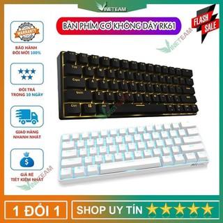 Bàn Phím Cơ RK61 Bluetooth màu đen Black Switch, màu trắng Blue Switch Bluetooth 4.0 Led RGB - DC3471 thumbnail