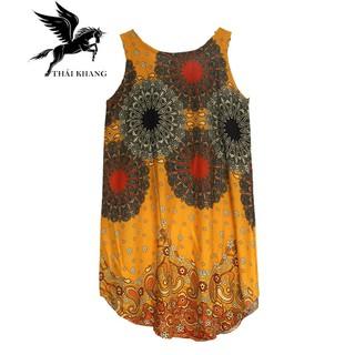 Váy Nữ Trung Niên Loại Sát Nách Vải Lanh Mặc Mát - VÁY SÁT NÁCH 4