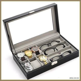 Hộp đựng đa năng đồng hồ, kính mắt, trang sức có chìa khóa - Hộp đựng đa năng đồng hồ, kính mắt, trang sức thumbnail