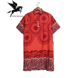 Váy Nữ Trung Niên Có Tay Vải Lanh Sang Trọng - váy trung niên 1