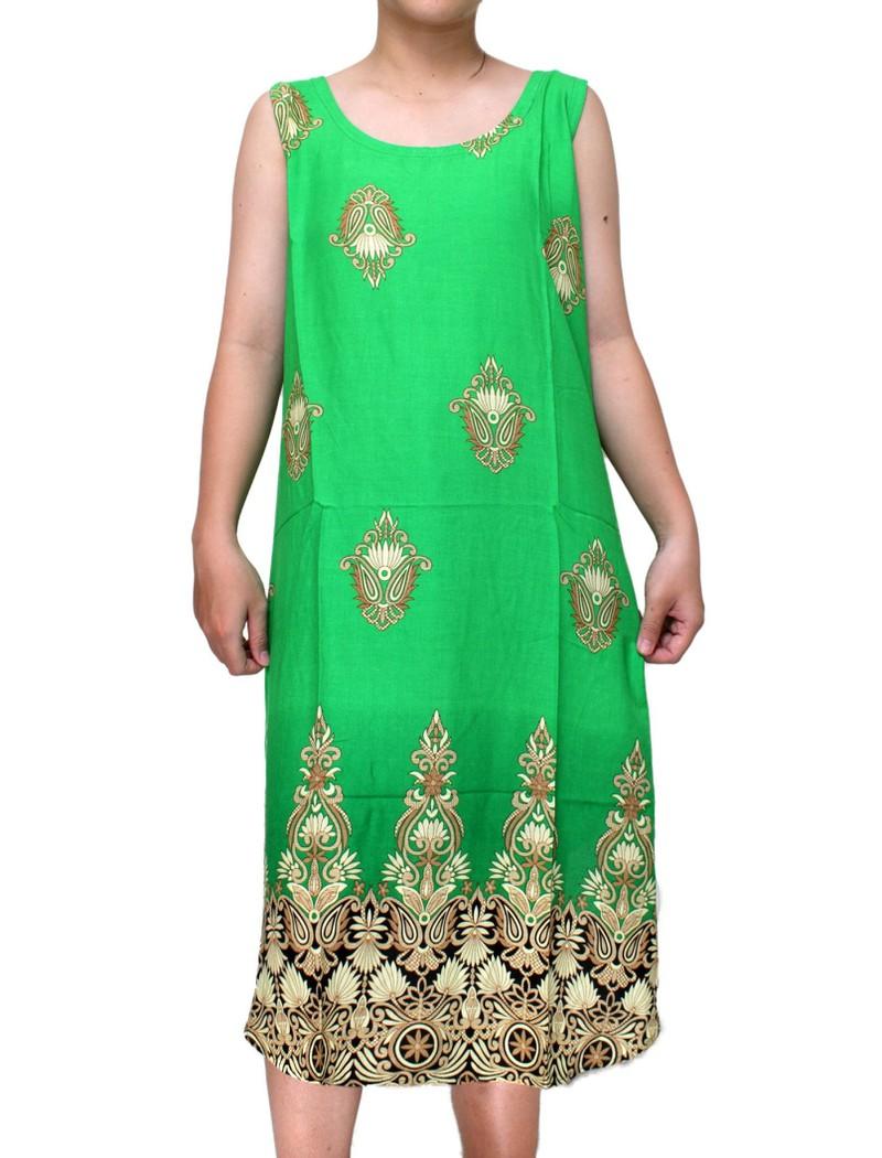 Váy Nữ Trung Niên Loại Sát Nách Vải Lanh Mặc Mát - VÁY SÁT NÁCH 2